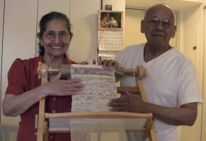 Joachin & Ladislada Mejia with their weaving